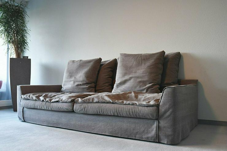 RAHAUS Designer Sofa - hellgrau mit Kissen - NP.1590EUR