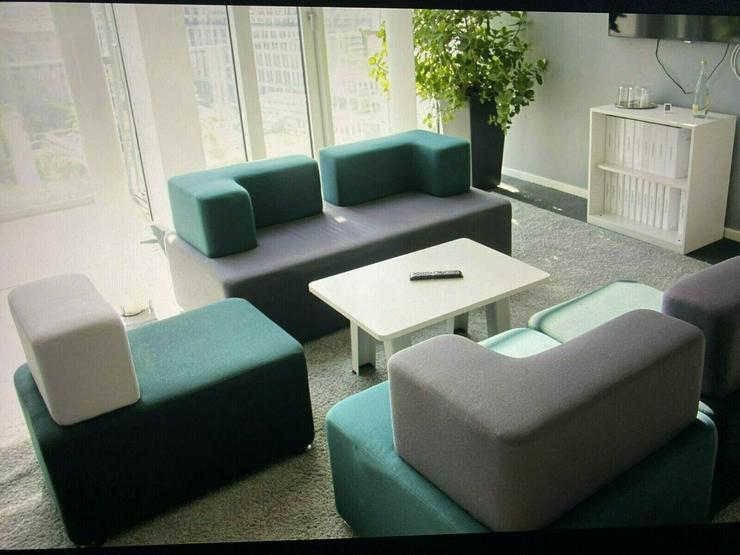 Lounge / Büromöbel mit zugehörigem Tisch von Raumhaus - NP.1600,- - Weitere - Bild 1