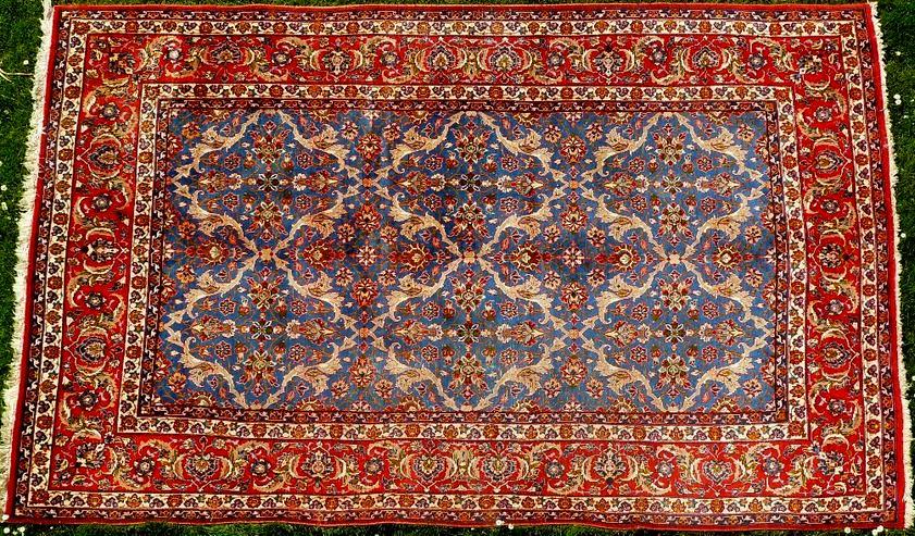 Orientteppich Isfahan antik Sammlerteppich (T100)