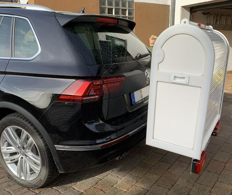 Bild 4: Sauber und sicherer Rollstuhltranport auf der Anhängerkupplung