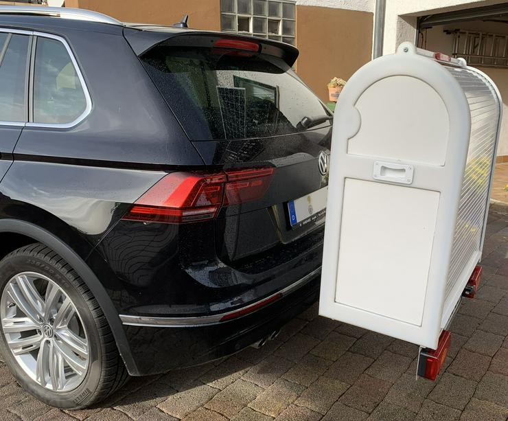 Bild 3: Sauber und sicherer Rollstuhltranport auf der Anhängerkupplung