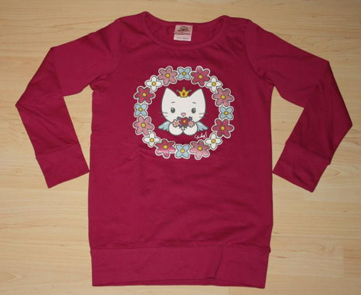 Mädchen Pullover Katze Pulli Kinder Langarm Sweatshirt Longsleeve Langarmshirt pink Gr. 116 NEU
