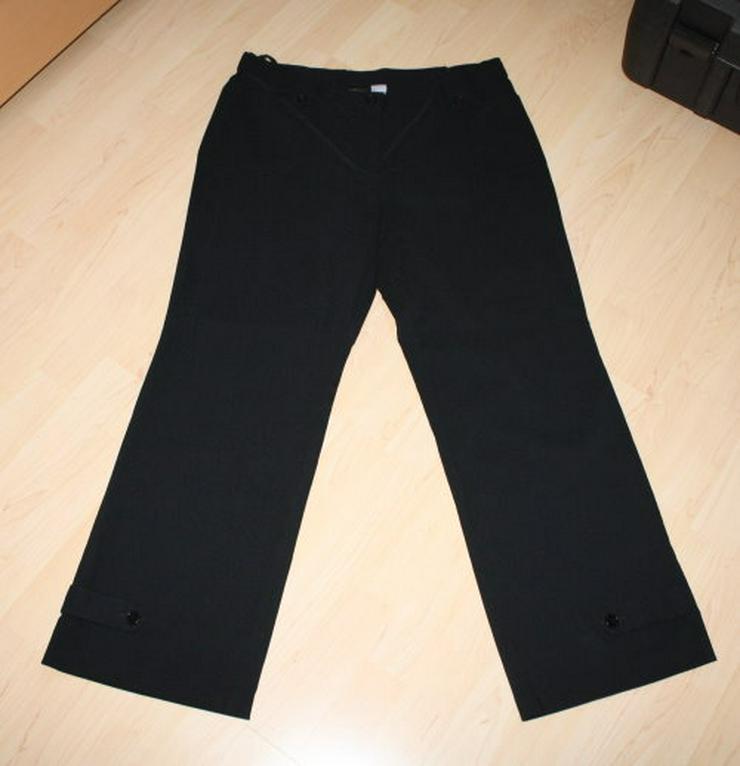 Damen Bengalin Hose Stretchhose Business Stoffhose Straight-Fit Damenhose Kurzgröße elegant lang schwarz Gr. 44 L