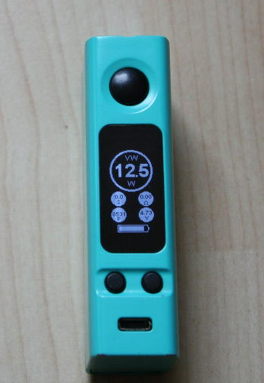 Bild 2: Joyetech eVic VTC Mini 75W TC MOD Box Akkuträger 75Watt türkis inkl. Silikonhülle E-Zigarette E-Shisha