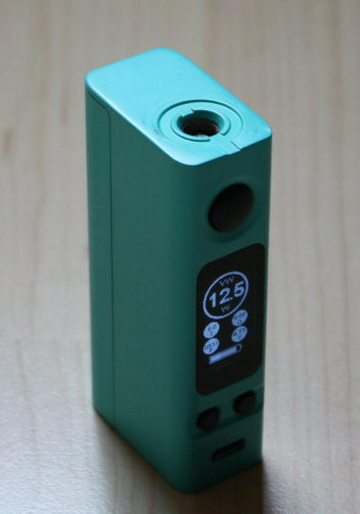 Bild 3: Joyetech eVic VTC Mini 75W TC MOD Box Akkuträger 75Watt türkis inkl. Silikonhülle E-Zigarette E-Shisha