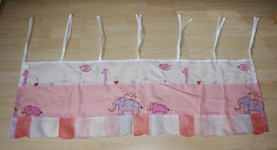 Kinder Gardine Scheibengardine Zoo Tiere Kurzgardine Kinderzimmer Bistrogardine Fenster Vorhang rosa/weiß 40x120cm
