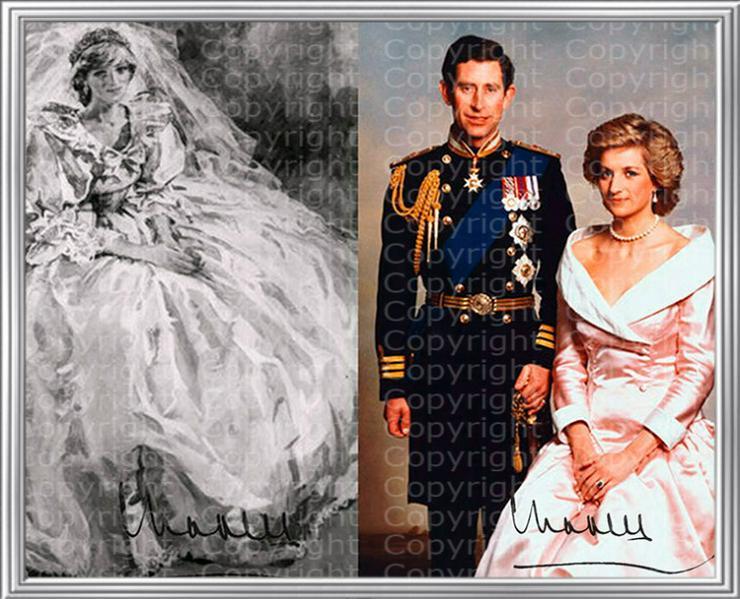 Prinzessin Diana Kunstwerk. Signiert von Prinz Charles. NEU. Kunstdruck. Rarität. Andenken.