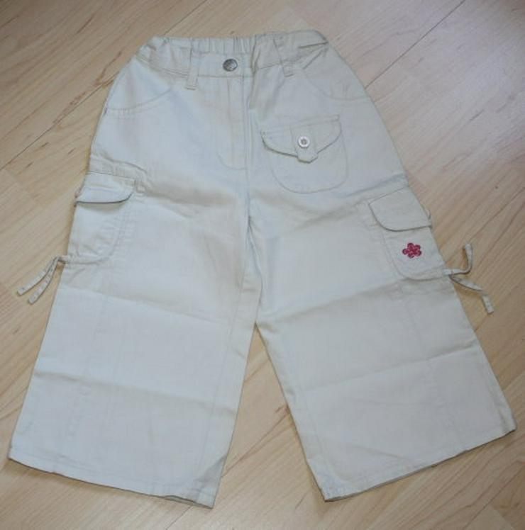 Mädchen Cargohose Kinderhose Stoffhose Chinohose Seitentaschen Freizeithose beige Gr. 86/92 NEU