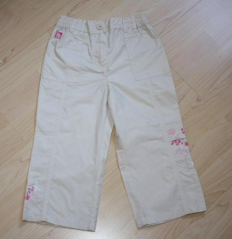 Topolino Mädchen Hose Kinderhose lange Stoffhose Freizeithose lang grau/pink beige Gr. 86/92 NEU
