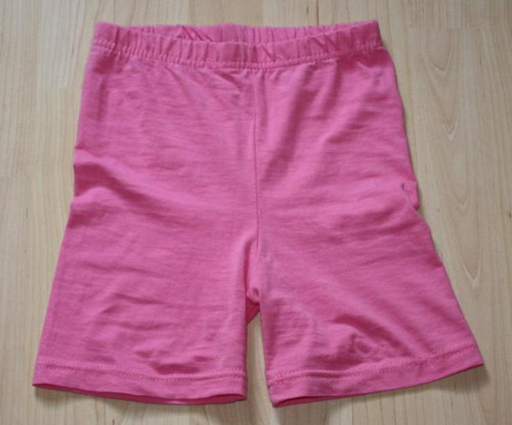 Mädchen Hose Kinder Shorts kurz Radlerhose kurze Leggings Bermuda Leggins pink rosa Gr. 122 NEU