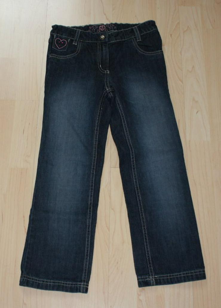 Mädchen Jeans Hose lange Kinder Jeanshose Bootcut Kinderjeans lang dunkelblau darkblue Gr. 122 NEU