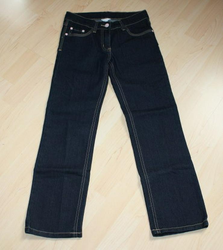 Mädchen Jeanshose lang Kinder Jeans Hose lange Kinderjeans dunkelblau darkblue Gr. 146 NEU
