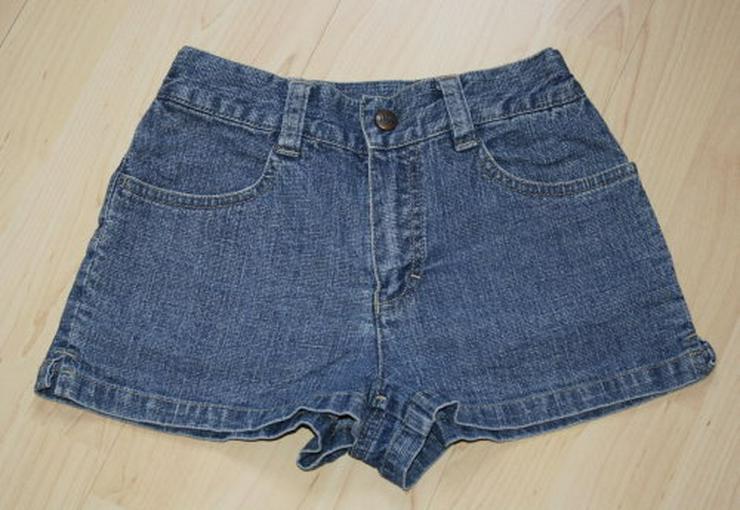Kurze Mädchen Jeans Shorts Kinder Bermuda Hose Hotpants Jeanshose kurz Sommerhose blau Gr. 128
