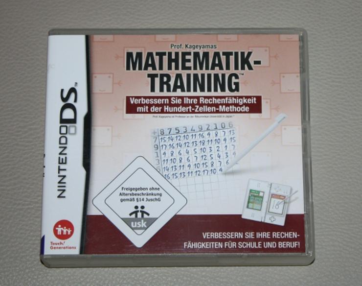 Professor Prof. Kageyamas Mathematik-Training Mathe Rechnen lernen Übungen Nintendo DS 3DS Lernspiel Game