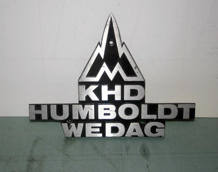 Eisenbahn - Waggonschild - KHD HUMBOLDT WEDAG- Aluschild