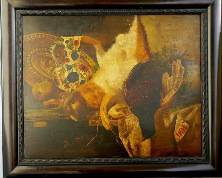 Jagdstillleben Christian Strobel Öl-Gemälde (B069)