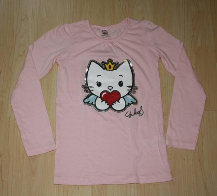 Mädchen Pullover Katze Kinder Langarm Sweatshirt Angel Cat Sugar Pulli Longsleeve Pailletten rosa Gr. 140 NEU