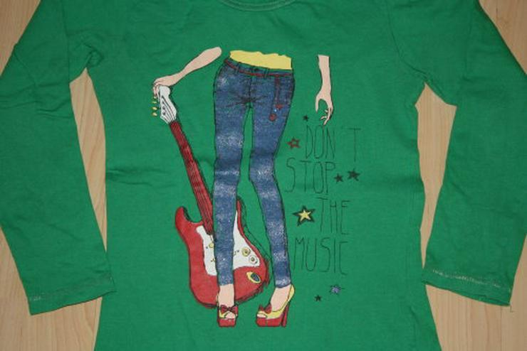 Mädchen Pullover Kinder Pulli Langarm Sweatshirt Girl Music Langarmshirt Longsleeve grün Gr. 122