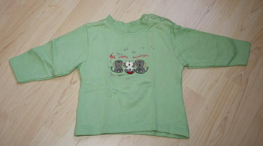 Baby Pullover Kinder Pulli Mädchen Langarm Sweatshirt Sweater Igel-Motiv grün Gr. 80 NEU