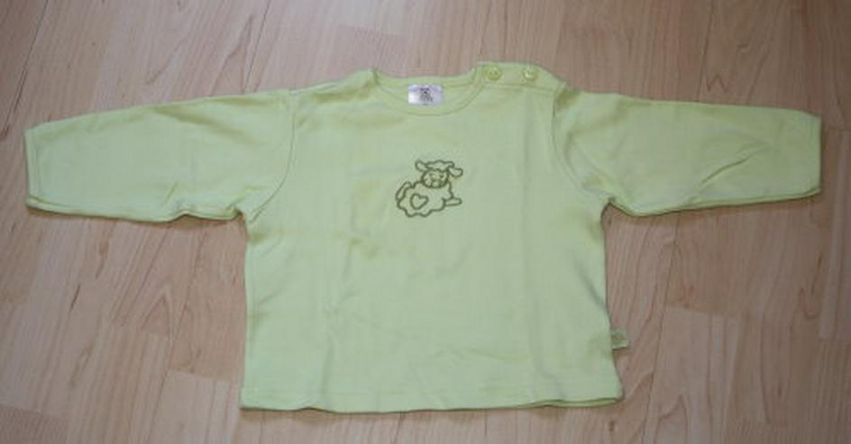 Kinder Pullover Schaf Baby Langarm Sweatshirt Mädchen Langarmshirt Schäfchen Longsleeve Pulli grün Gr. 80 NEU