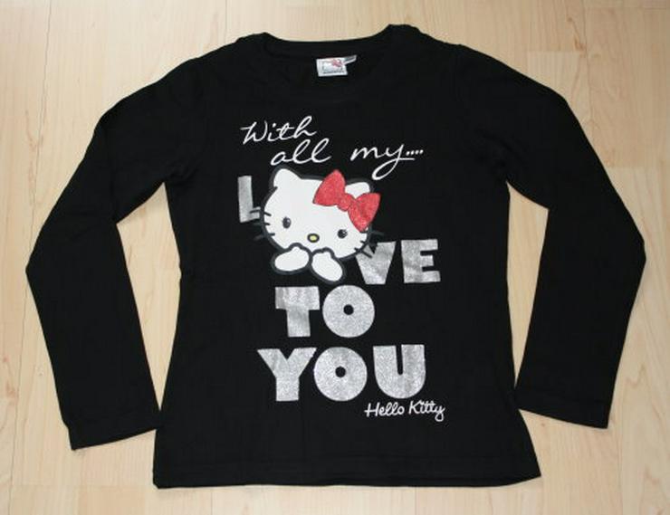 Hello Kitty Kinder Pullover Mädchen Sweatshirt Pulli Love To You Langarmshirt Longsleeve schwarz Gr. 140 NEU