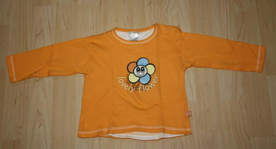 Mädchen Pullover Baby Langarm Sweatshirt Blume Pulli Kinder Langarmshirt Longsleeve Flower orange Gr. 80