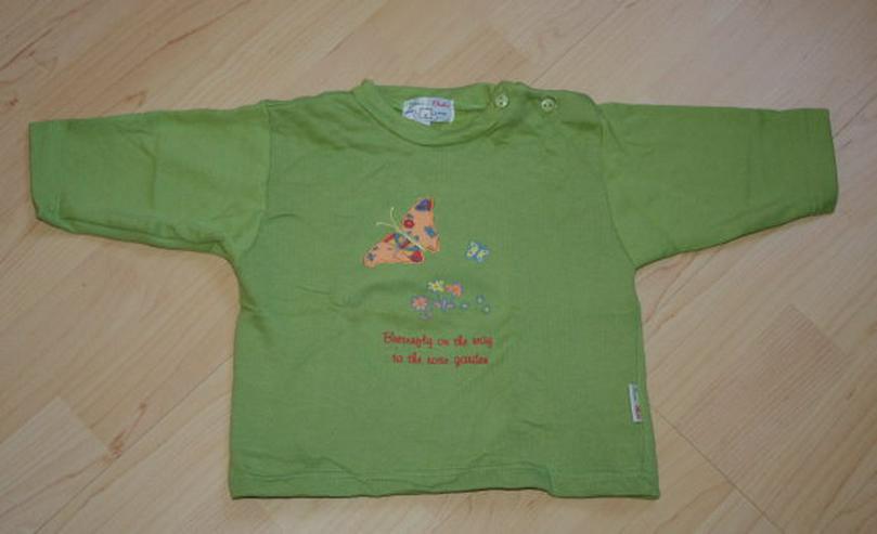 Baby Pullover Mädchen Sweatshirt Kinder Sweater Langarm Pulli Schmetterling Butterfly grün Gr. 74 NEU