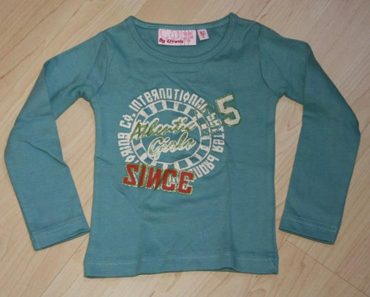 Mädchen Pullover Langarm Sweatshirt Kinder Pulli Langarmshirt Longsleeve Baumwolle türkis Gr. 92 NEU
