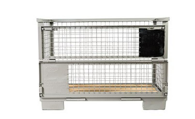 Gitterbox Gitterbehälter mit Topqualität UIC EUR EPAL pulverbeschichtet 1200x800x800mm