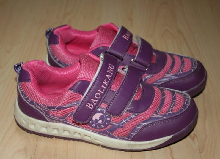 Mädchen Turnschuhe Sneaker Kinder Sportschuhe Halbschuhe Freizeitschuhe Klettschuhe lila/pink Gr. 34