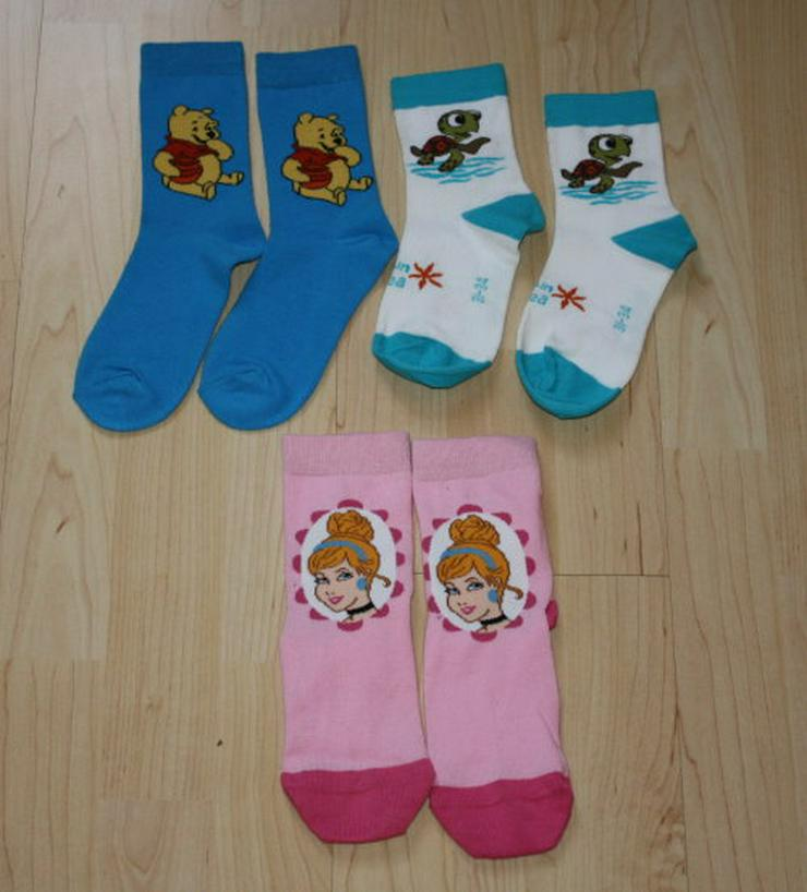 3x Disney Kinder Strümpfe Mädchen Socken Winnie Pooh Princess Motiv rosa/pink blau/weiß Gr. 31-34 NEU