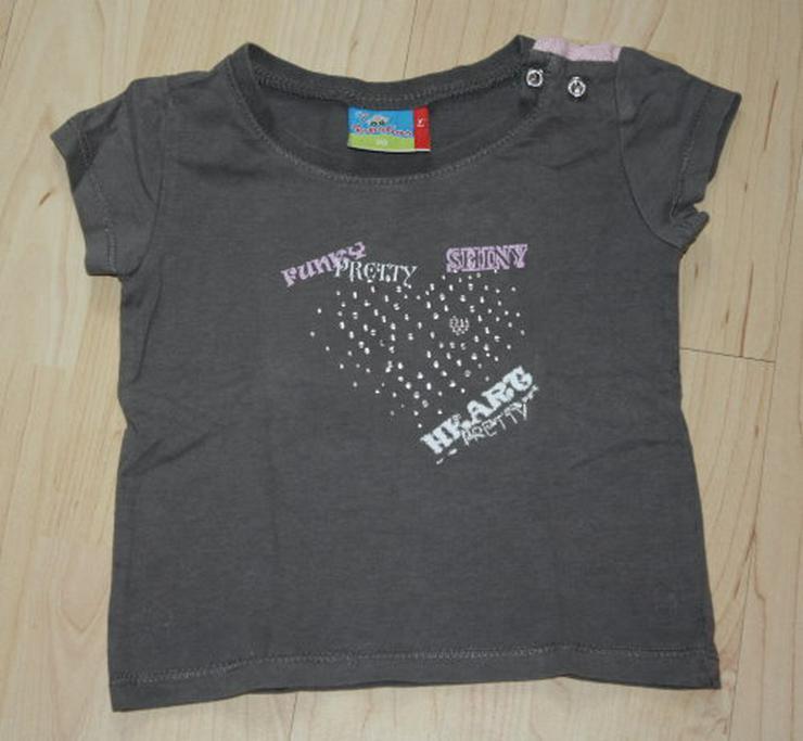 Mädchen T-Shirt Kinder Kurzarmshirt Baby Strass Baumwolle Rundhals khaki olivgrün Gr. 80