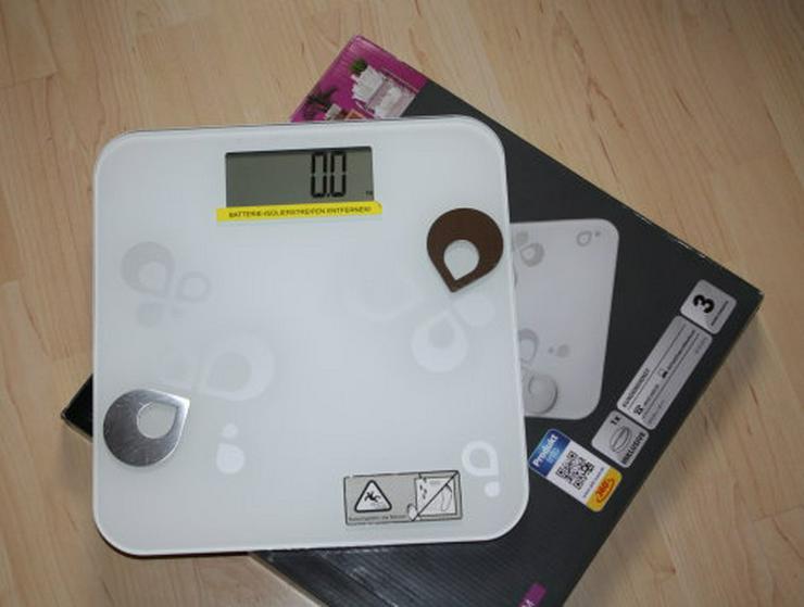 Körperfettwaage Personenwaage Digital Waage Glaswaage Digitale Analysewaage Körperwaage Badezimmer bis 180kg