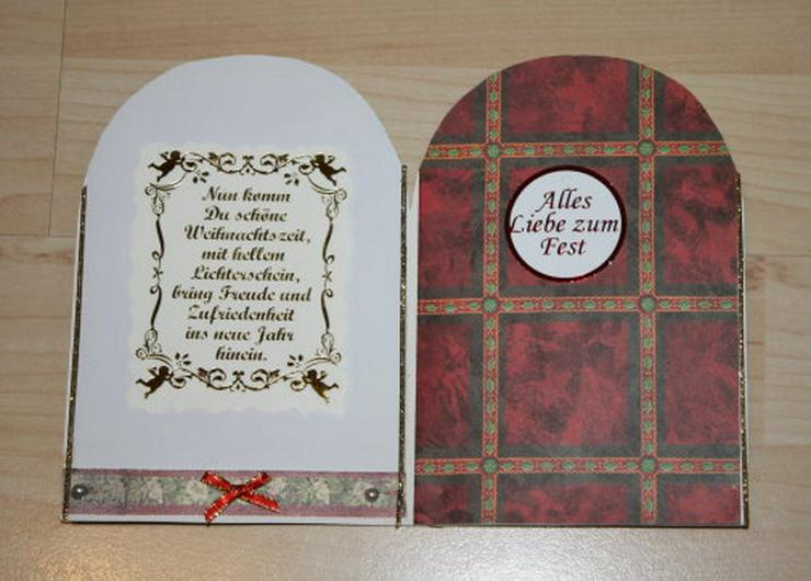 Bild 3: 2 Weihnachtskarten Handarbeit Klappkarten Grußkarten Weihnachten Glückwunschkarten Unikat NEU