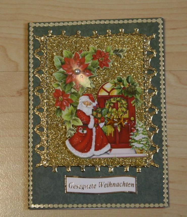 Bild 6: 2 Weihnachtskarten Handarbeit Klappkarten Grußkarten Weihnachten Glückwunschkarten Unikat NEU