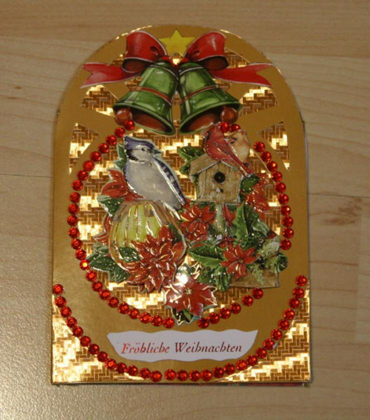 Bild 2: 2 Weihnachtskarten Handarbeit Klappkarten Grußkarten Weihnachten Glückwunschkarten Unikat NEU