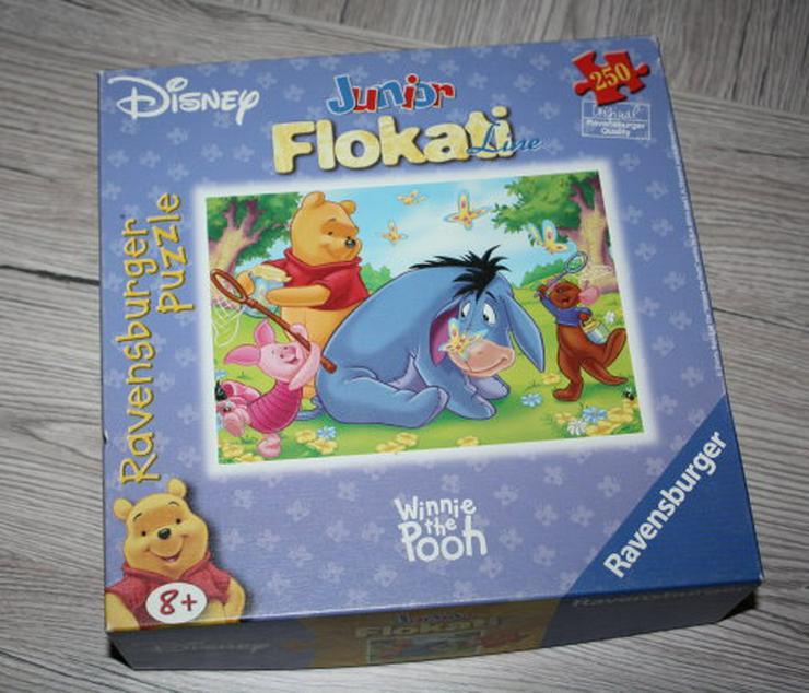 Ravensburger Disney Junior Flokati Puzzle Winnie the Pooh Puhh 250 Teile I-Aah und der Schmetterling