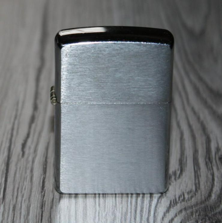 Original Zippo Feuerzeug Benzin Sturmfeuerzeug Metall chrome brushed gebürstet silber nachfüllbar
