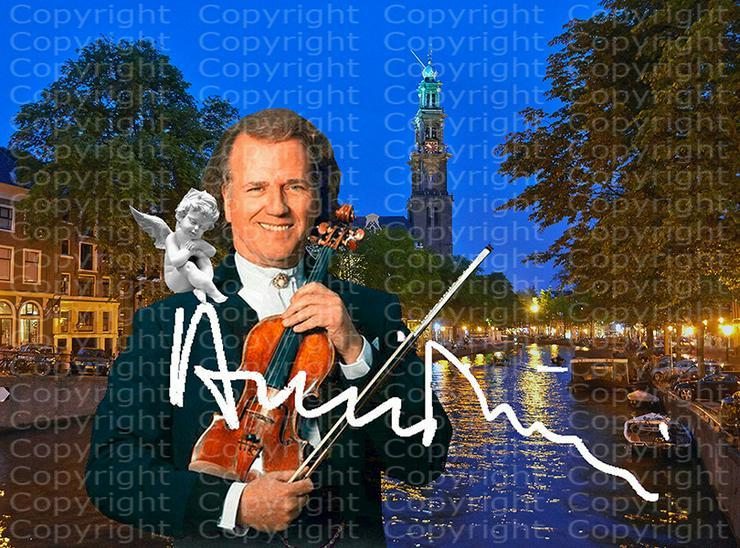 Bild 5: André Rieu Fotodruck signiert. NEU. Souvenir. Rarität. Andenken.