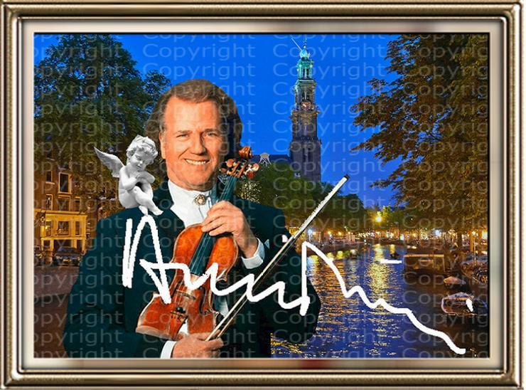 Bild 4: André Rieu Fotodruck signiert. NEU. Souvenir. Rarität. Andenken.