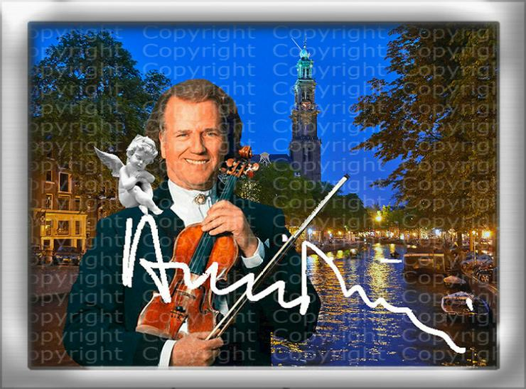 Bild 3: André Rieu Fotodruck signiert. NEU. Souvenir. Rarität. Andenken.