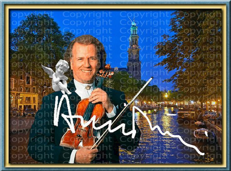 Bild 6: André Rieu Fotodruck signiert. NEU. Souvenir. Rarität. Andenken.