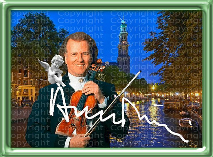 Bild 2: André Rieu Fotodruck signiert. NEU. Souvenir. Rarität. Andenken.