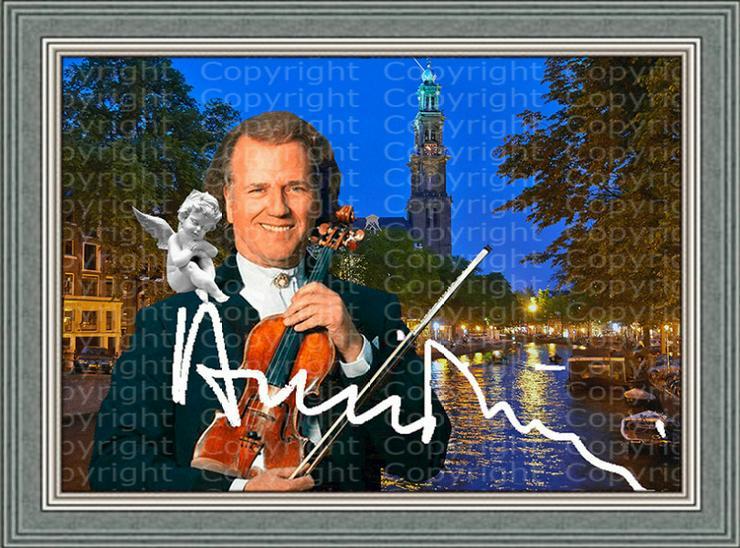 André Rieu Fotodruck signiert. NEU. Souvenir. Rarität. Andenken.