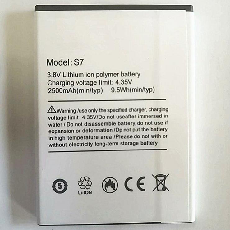Ulefone S7 Akku Für Ulefone S7 Ersatzakku(9.5Wh/2500mAh,3.8V)