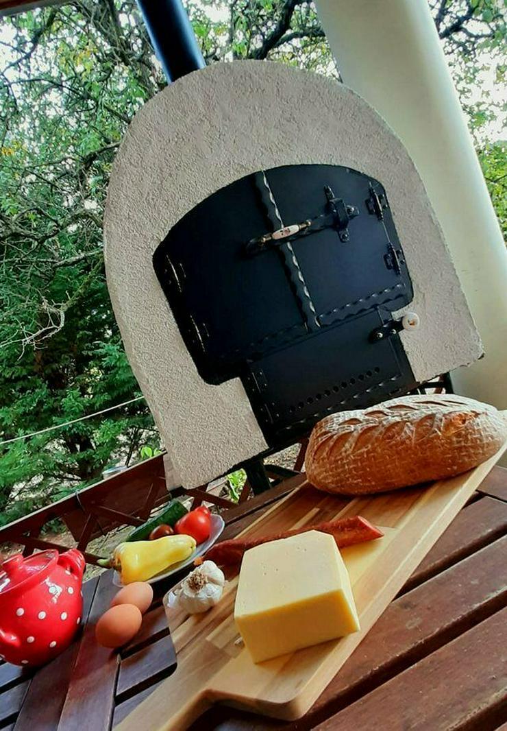 Mobiler Holzbackofen, Originaler ungarische handgemachte Gartenbackofen. Pizzaofen