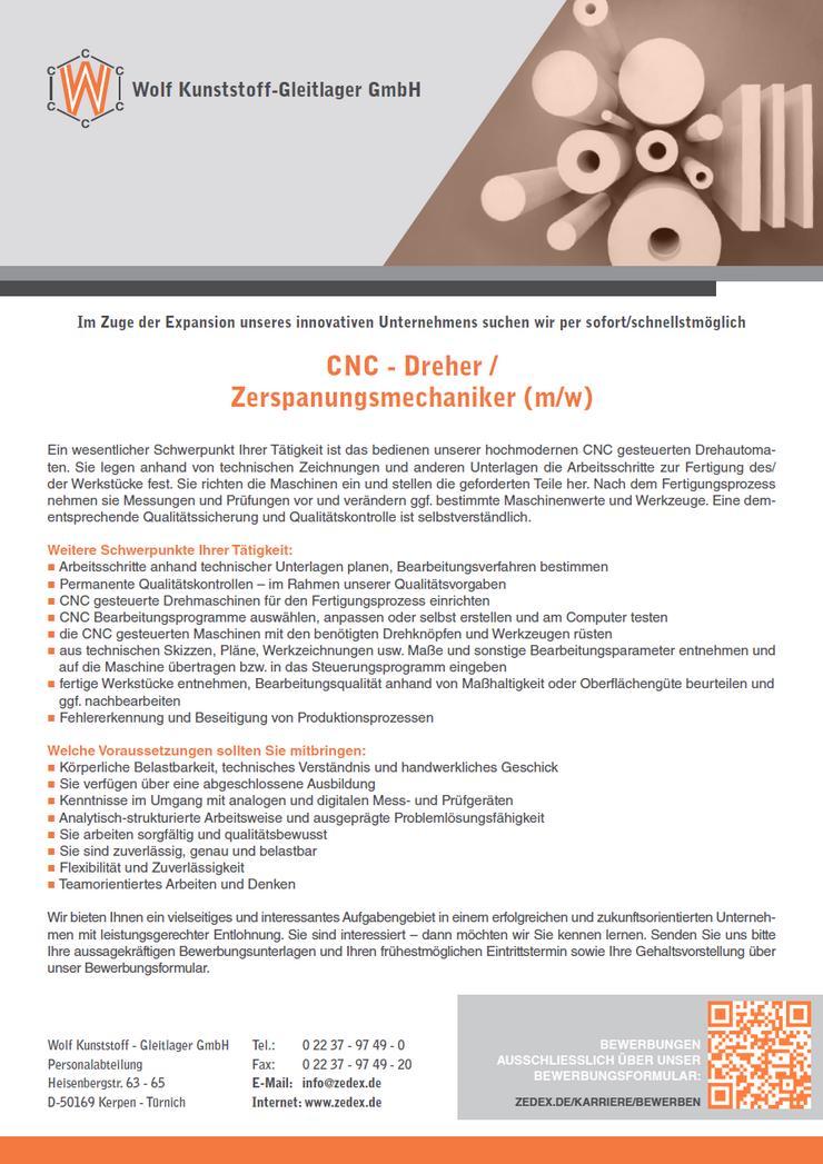 CNC - Dreher / Zerspanungsmechaniker (m/w/d)