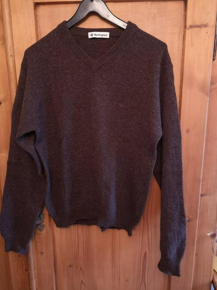 Burlington Herrenpullover Pullover Wolle braun Gr.48