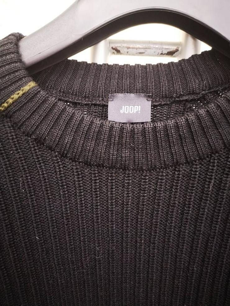 JOOP Pullover Herrenpullover Schurwolle schwarz Gr.48