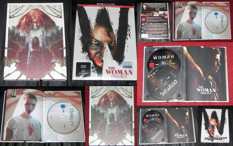 The Woman Trilogy - 3-Disc Limited Collector's Edition im UHD-Mediabook (4K Ultra HD) [Blu-ray]